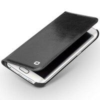 QIALINO Cas pour Samsung Galaxy s6 bord s6 bord plus Réel en cuir Flip Portefeuille Ultra Mince Couverture pour Samsung S6 bord + 5.1 pouces