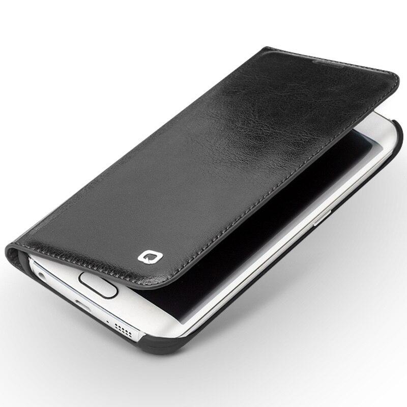 Цена за Qialino чехол для Samsung Galaxy S6 Edge S6 Edge Plus Натуральная кожа флип бумажник ультра тонкий чехол для Samsung S6 edge + 5.1 дюймов