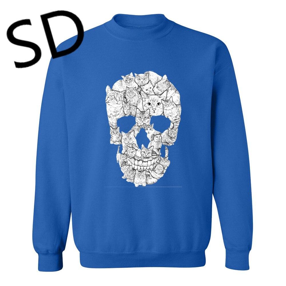 Hombre Blue white Skull Sudadera Compresión red Dropshipping navy Chándal Sketchy Tops Gráfico Hoodies Hombres gray 3d Streetwear blue Black qwWZRUv