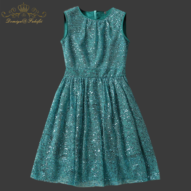Girl Dress 2018 Lady Short Dress Sleeveless Summer Dress Party Occasion Sequins Hollow out Women Dresses Vestidos Family Clothes hollow out hem knot dress