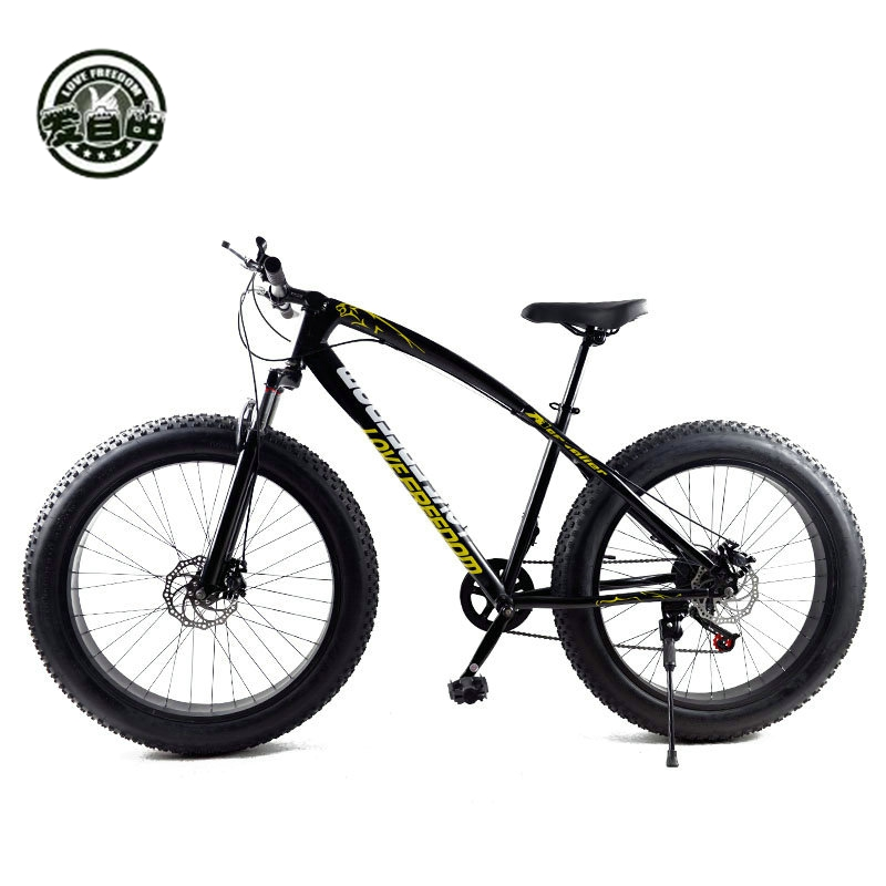 Love Freedom Hot Sale 7/21/24/27 Speed Snow Bike 26-inch 4.0 Fat Bicycle Mechanical disc brake Mountain Bike Free Delivery russia only 26 inch 7 21 24 2 speed folding fat bike double disc brakes mountain bike big tire snow bike for man and women