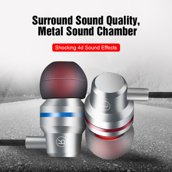 TOMKAS Wired Earbuds Headphones 3.5mm In Ear Earphone Earpiece With Mic Stereo Headset 5 Color For Samsung Xiaomi Phone Computer 1