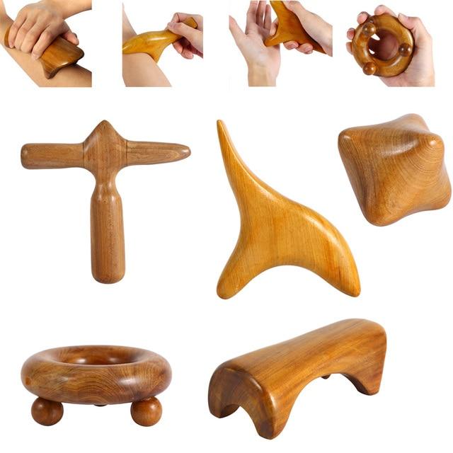 Вьетнамский ароматный деревянный Рефлексология ног иглоукалывание шиацу тайский ролик-Массажер терапия меридианы лом лимфодренаж