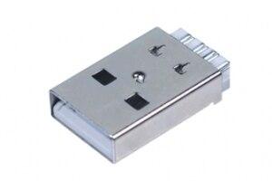 1000 pcs USB connector 2.0 A type male plug solder type short  case
