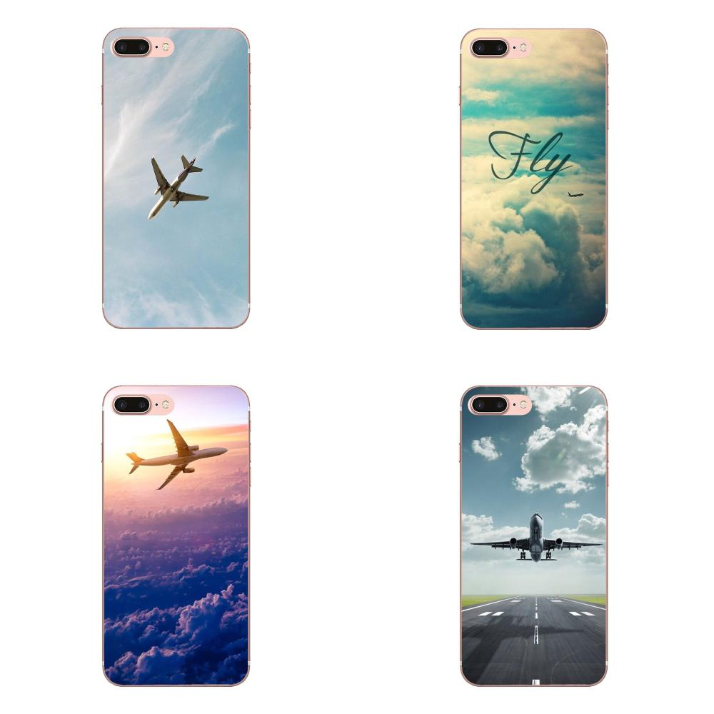 Personalized Print Phone Case For Apple iPhone X XS Max XR 4 4S 5 5C 5S SE 6 6S 7 8 Plus Yinuodaairplane Fly Travel Cloud Plane
