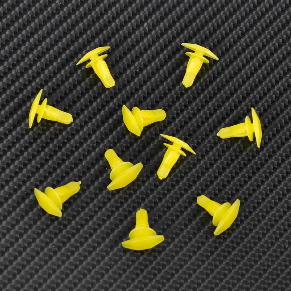 DWCX 10 adet 91530-SP1-003 Sarı Kauçuk Weatherstrip Kapı ve Boot Seal Klipler Fit 6mm Delik Honda Accord Civic için CRV Acura 3.5RL