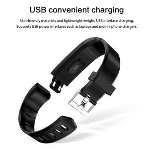 Image 5 - Смарт браслет ID115Plus, спортивный Bluetooth браслет, монитор сердечного ритма, часы, фитнес трекер, смарт браслет PK Mi Band 2