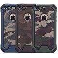 Híbrido dual layer impacto à prova de choque camuflagem do exército do camo armadura hard case para iphone 5 5s se 6 6 s plus/7 mais tampa do telefone casos