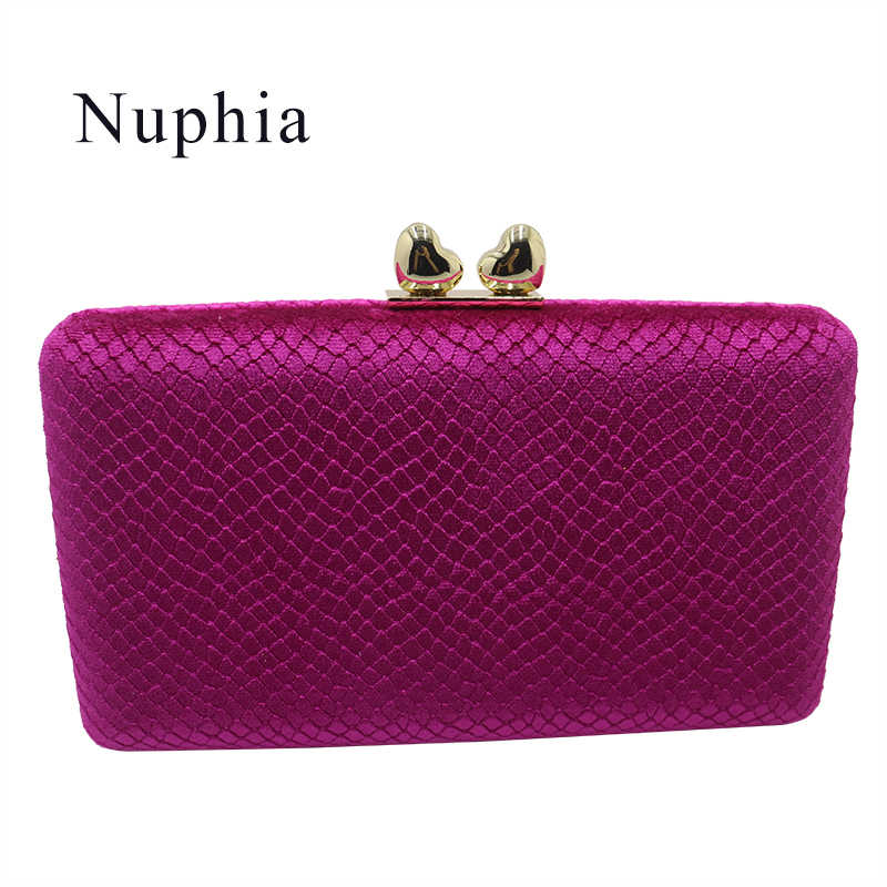 9be1217256 Nuphia Quality Velvet Evening Clutch Bags and Hard Case Box Clutch Evening  Bags and Wallet Handbags