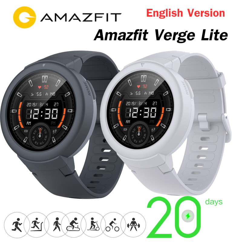 Newest Origina <font><b>Amazfit</b></font> Verge <font><b>Lite</b></font> Smartwatch 20Days Battery Life Huami verge2 GPSwatch AMOLE Color Screen Global version image