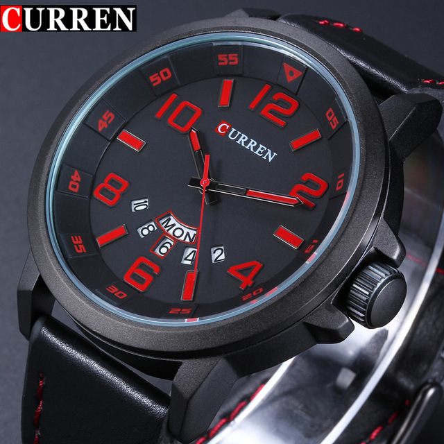 Luxury Casual Men Watches Analog Military Sports Watch Men Quartz Male Wristwatches CURREN 8240 Relogio Masculino Montre Homme