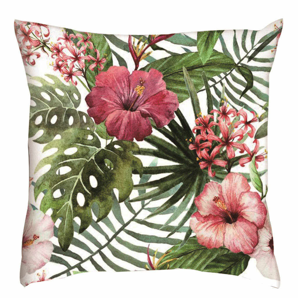 Decorative throw pillows case cover Green watercolor Nordic Style Simple color Leaf Cotton Linen Cushion Cover For Sofa Home 408