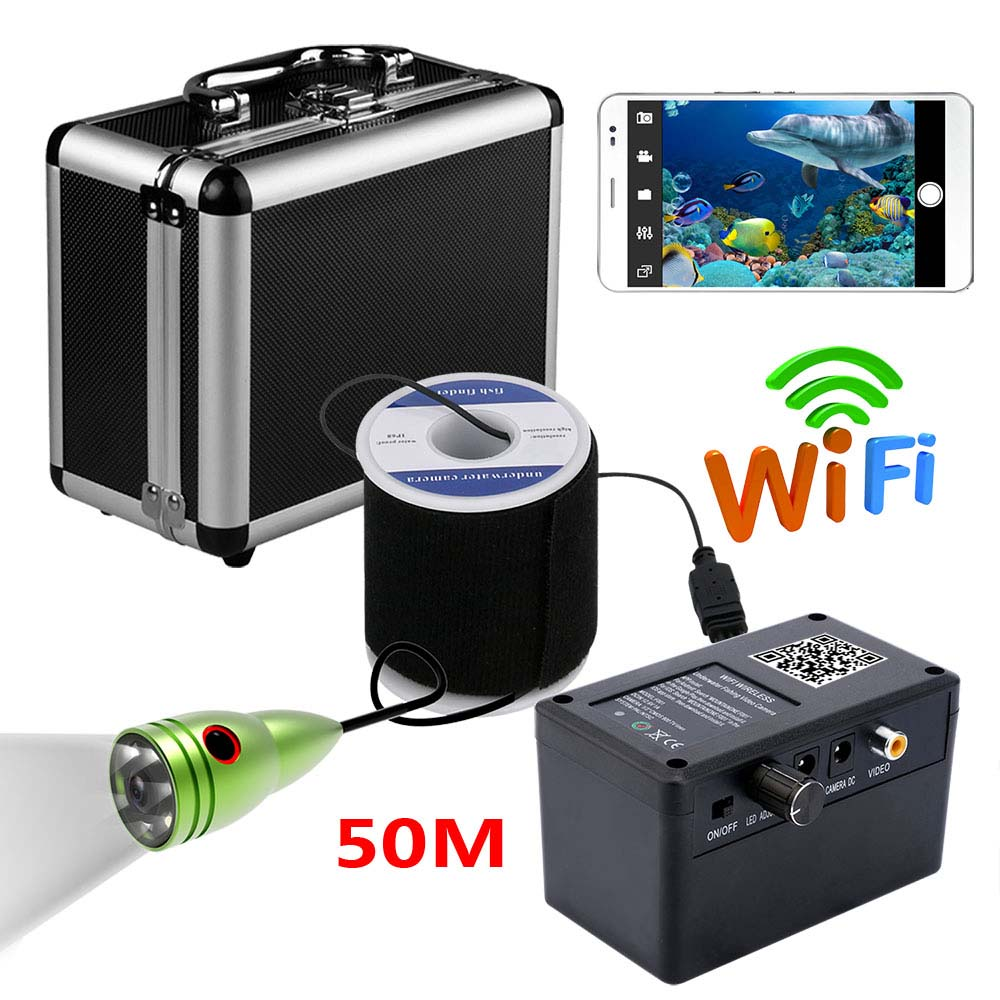 MAOTEWANG HD 720P DVR Wifi Wireless 50M Underwater Fishing Camera Video Recording 6 PCS 1W White LEDs Video RecordMAOTEWANG HD 720P DVR Wifi Wireless 50M Underwater Fishing Camera Video Recording 6 PCS 1W White LEDs Video Record
