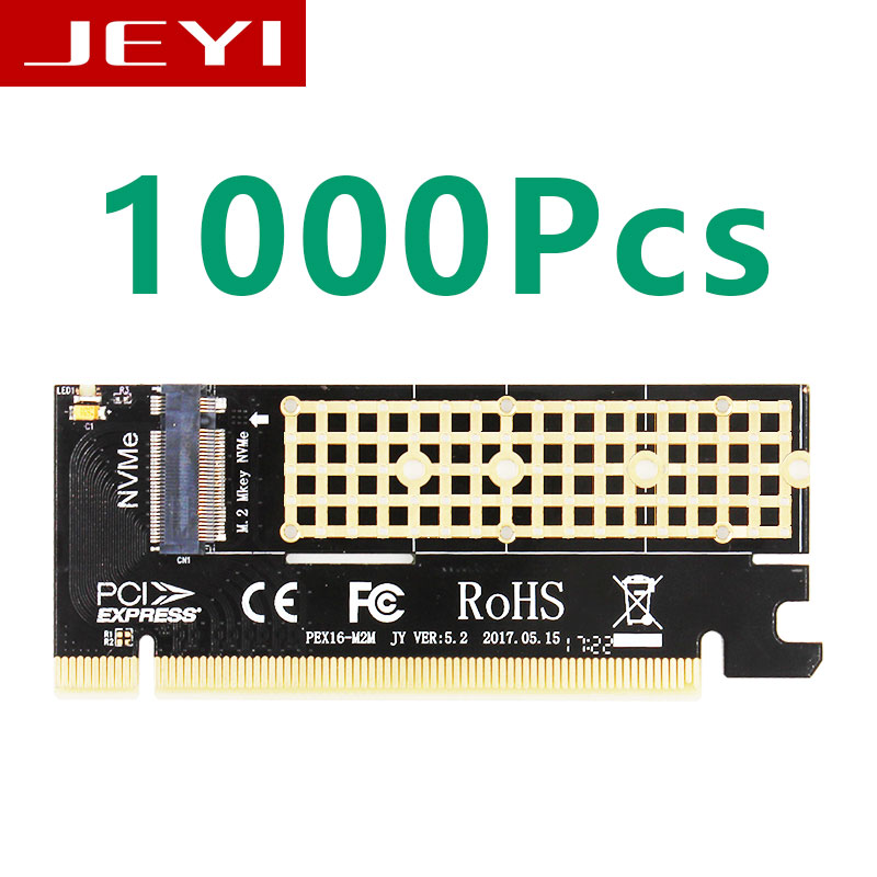 1000Pcs JEYI MX16 M.2 NVMe SSD NGFF TO PCIE 3.0 X16 adapter M Key card Suppor PCI Express 3.0 x4 2230-2280 Size m.2 FULL SPEED