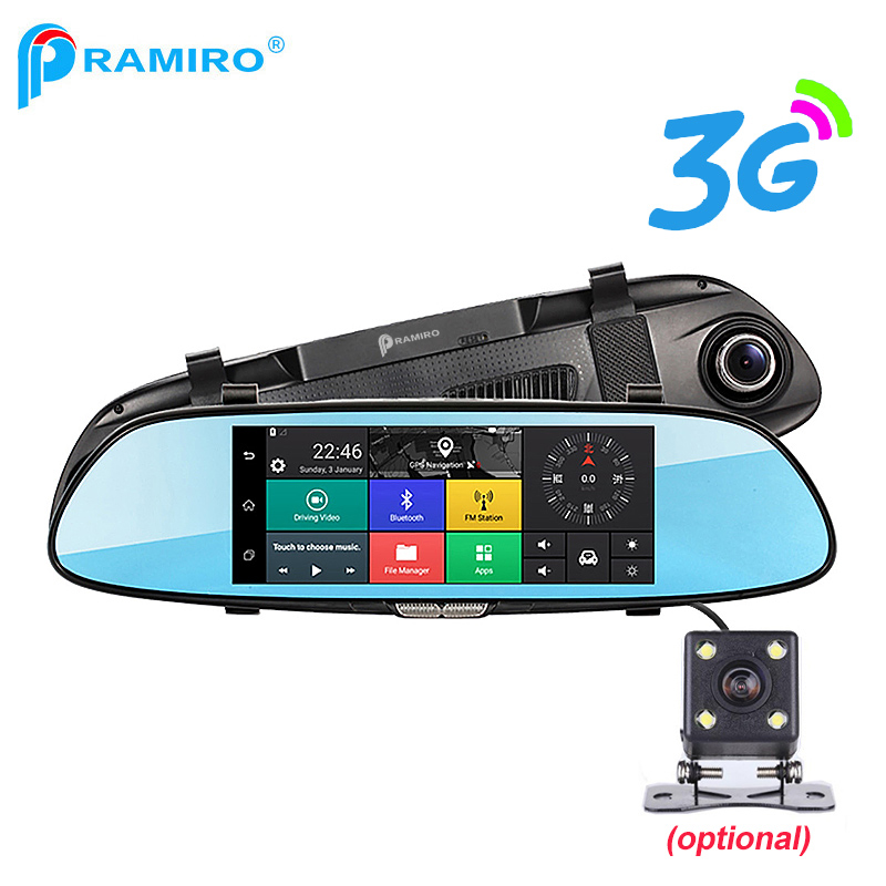 PRAMIRO 3G 7 Car DVR Rear View Mirror Registrar Camera Android 5 0 Wifi GPS Full