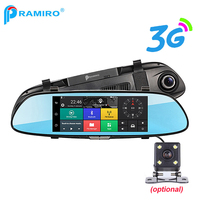 PRAMIRO 3G 7 Car DVR Rear View Mirror Registrar Camera Android 5 0 Wifi GPS Full