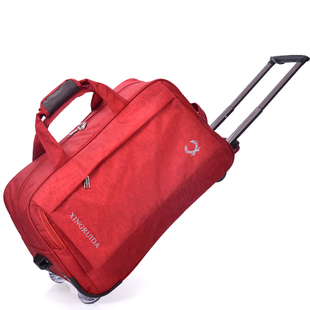 2015 Trolley Men and Women Luggage Travel Bags Metal Rolling Hand Sport  Duffel Kipping Bag Travel Wheels Bolsas Free Shipping 799657d089