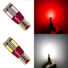 1 Piece 12V T10 W5W 194 Error Free Canbus  Car Bulb LED Light Interior Map Read Door License Plate Auto Lamps 4014 SMD 57 Chips