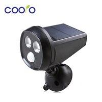 LED Solar Powered Motion Sensor Light 2LED Super Bright Solar Wall Light Waterproof PIR Motion Sensor