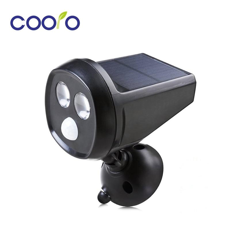 Wall Top Solar Lights : Aliexpress.com : Buy LED Solar Powered Motion Sensor Light 2LED Super Bright Solar Wall Light ...