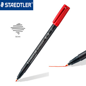 Image 2 - Ponto fino 0.6mm caneta marcador permanente de staedtler 318 wp4 lumocolor canetas universais pintura escrita para cd papel madeira multiuso