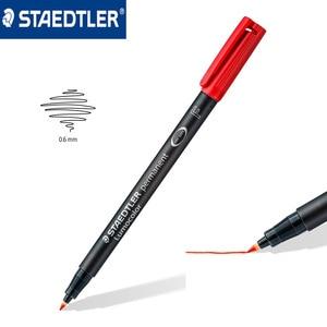 Image 2 - Staedtler 318 WP4 Lumocolor marcador permanente bolígrafo de punta fina 0,6mm plumas universales Escritura de pintura para papel para CD madera multiusos