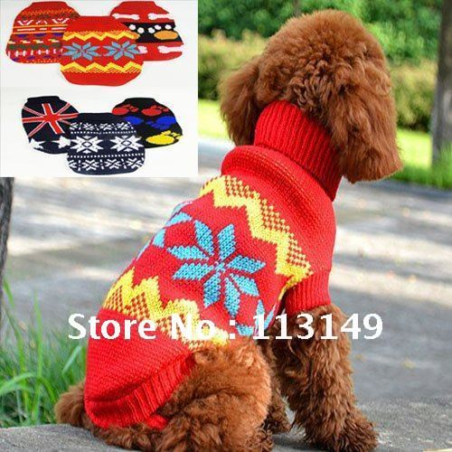 Free Shipping Winter Puppy Doggie Dog Sweater Knitting Patterns