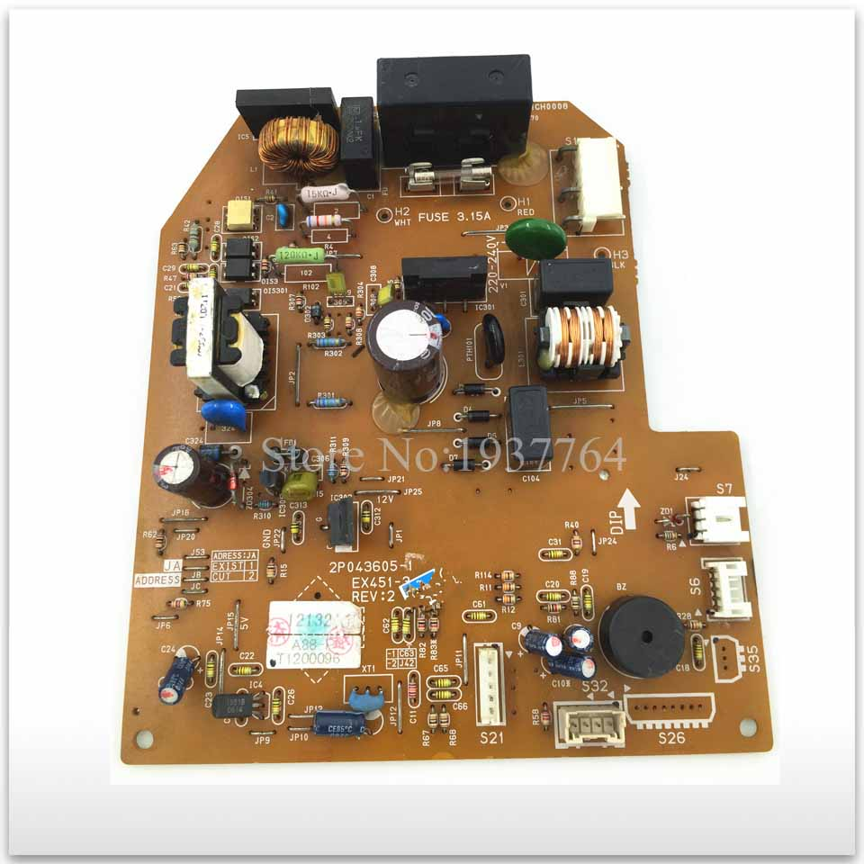 90% new for Air conditioning computer board circuit board 2P043605-1 EX451-3 good working ty94086dh atm38 3 0 automotive computer board