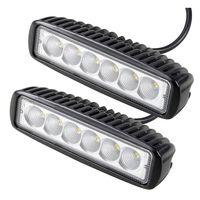 2 adet 18 W Led Araç İş Işık Bar Sürüş Sis Lambası Offroad Toyota Motosiklet Traktör SUV 4WD Tekne için Çalışma Işık LED Araba-Styling