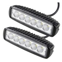 2pcs 18W Led Car Work Light Bar Driving Fog Lamp Offroad SUV 4WD Boat LED Work