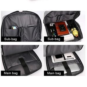 Image 4 - 남자 배낭 다기능 안티 절도 노트북 학생 Bagpack 노트북 USB 충전 방수 망 백 팩 비즈니스 남성 가방