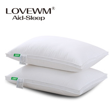Textiles de maison oreiller de couchage 100% plume tissu rempli oreillers Cou santé coton literie oreiller 48×74 cm Haute qualité