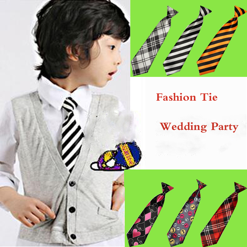 Elastic Neckties For Children One Size Polyester Fashion Casual Weddings Parties