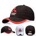 2016 НОВЫЙ 3D Mitsubishi hat caps с логотипом автомобиля moto gp moto racing F1 бейсболка шляпа регулируемые повседневная дружище hat оптовая