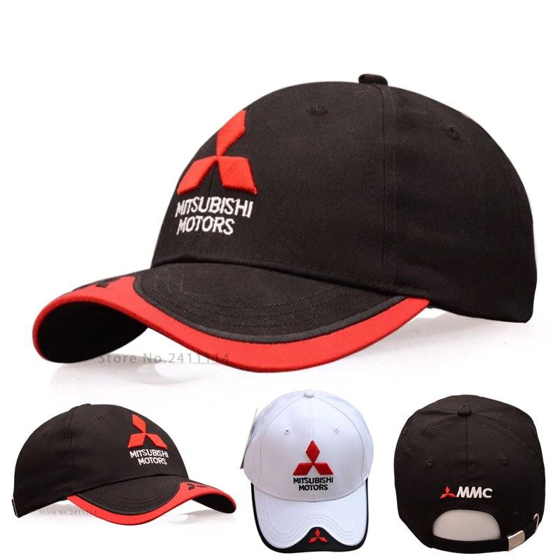 Prix pour 2016 NOUVEAU 3D Mitsubishi chapeau casquettes logo de voiture moto gp moto racing F1 casquette de baseball chapeau occasionnel réglable camionneur chapeau en gros