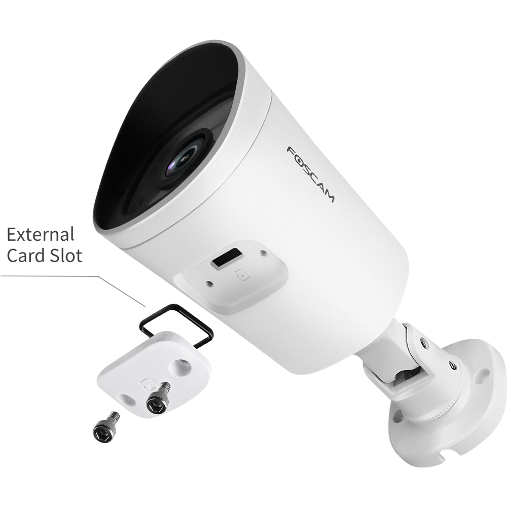 Foscam G4EP Super HD 4MP (1440P) PoE Outdoor IP Security Camera 8-Hour Free Cloud Storage Night Vision IP66 Bullet Camera