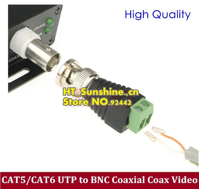 Bulk 50PCS Mini Coax CAT5//CAT6 BNC Video Balun Connector Adapter To Camera CCTV