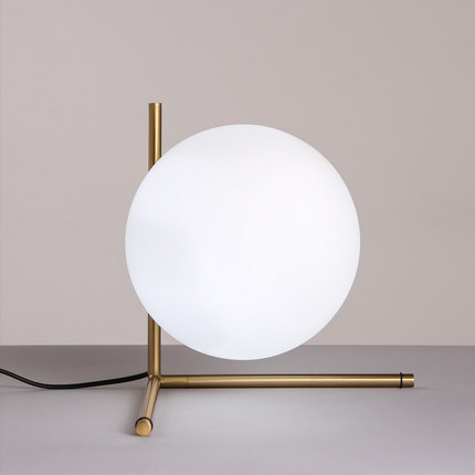 Modern Nordic milk white Round Glass Ball table lamps Bedside Table Lights  lovely decorative desk lamps Light Fixtures abajur-in Table Lamps from  Lights ...