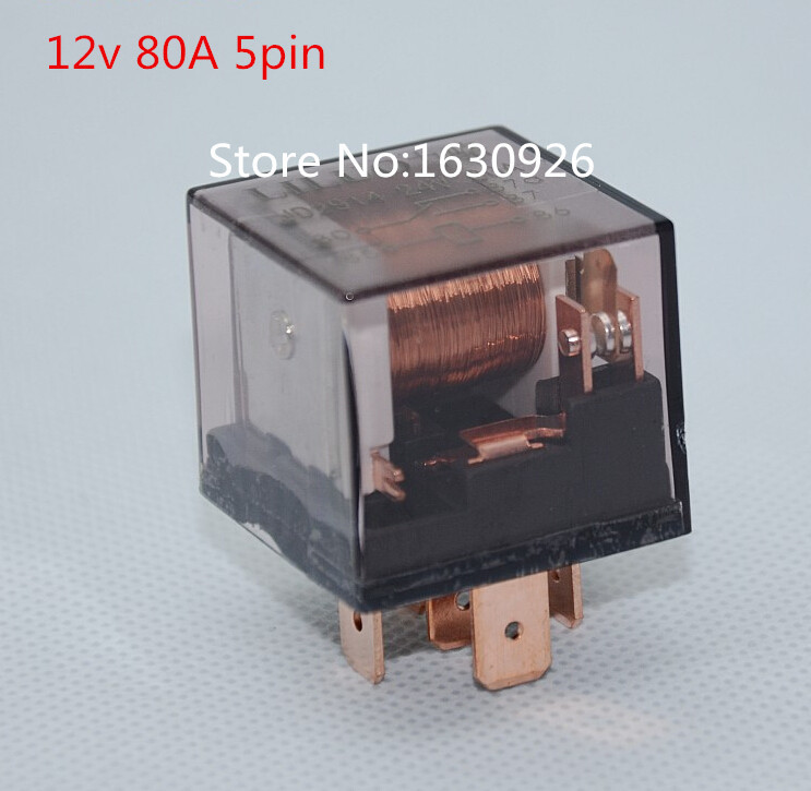 5pcs 12v 80a 5pin Transparent Car Relay High Power Relay