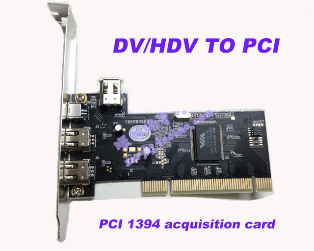 2017 new DV/HDV TO PCI 1394 Video Capture Card HD video capture Video acquisition card with cable for DV HDV Camera ...