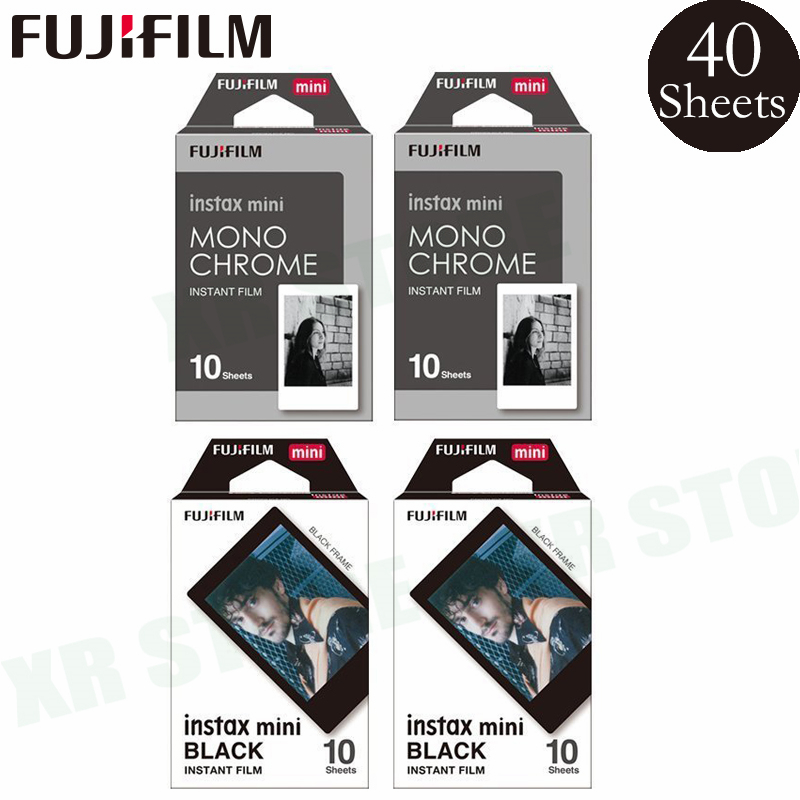 Fujifilm Instax 20 Black frame 20 Monochrome Sheets Film Photo Paper For Fuji Instant Mini 8