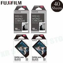 Fujifilm Instax 20 الإطار الأسود + 20 ورقة أحادية اللون فيلم ورق طباعة الصور ل فوجي لحظة صغيرة 8 9 70 7s 50s 90 25 SP 1 2 كاميرا