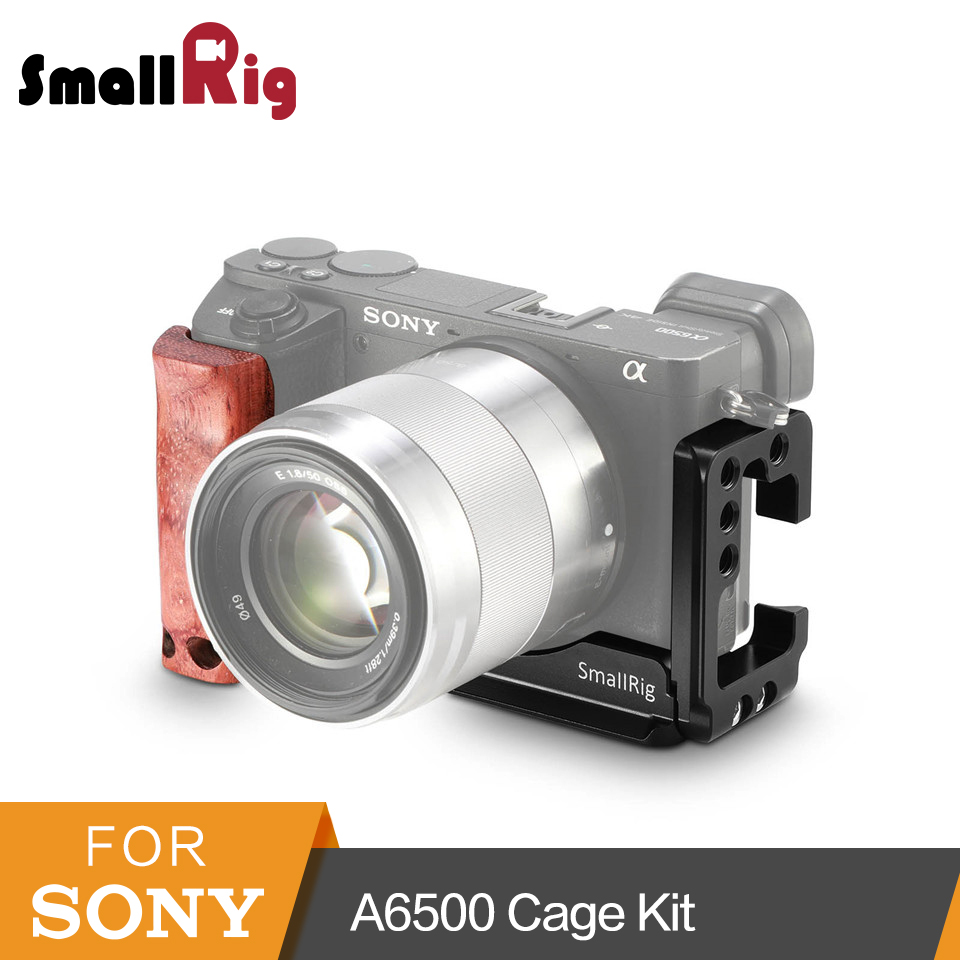 SmallRig A6500 L Bracket Cage Kit For Sony Alpha A6500 Side Plate Arca Baseplate L Plate