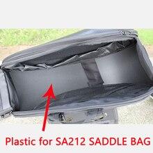 Одна пара водонепроницаемых мотоциклетных седельных сумок с пластиковым нижним слоем для SA212