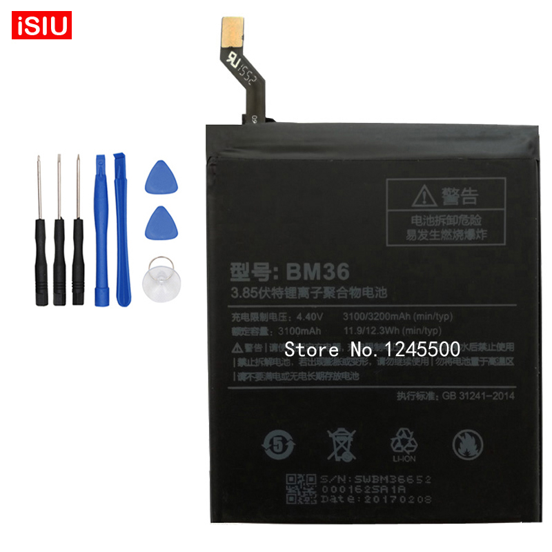 For Xiaomi5S Bateria BM36 3200mAh Mi 5S <font><b>Battery</b></font> For <font><b>Xiaomi</b></font> 5S / M5S / <font><b>Mi5S</b></font> / + Tools
