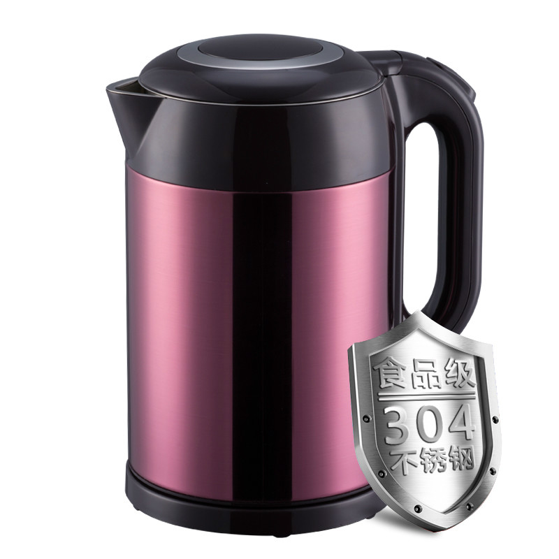 Electric kettle with stainless steel double - proof electric automatic power off