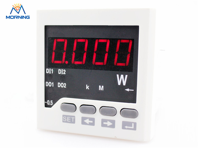 3Q71 frame size 72*72mm led panel digital three phase reactive power meter  factory price me 3h61 72 72mm led display 3 phase digital power factor meter support switch input and transmitting output