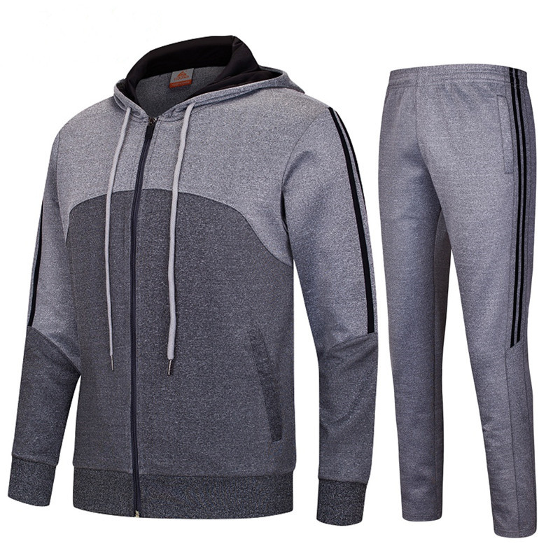 LIDONG New Sport Suit Men Sportswear Running Training Suit Set Gym Breathable Fabric Tracksuit Jogger Jogging Clothes