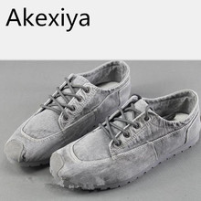 Akexiya sommer baumwolle hergestellt peking schuhe männer denim leinwand schuhe flache schnürung lässig komfortable niedrigen breathable männer casual schuhe