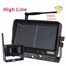 7″ Wireless 2.4G Rear View Monitor  with Wireless Transmission Backup Camera For Farm Tractors Digital Agriculture (1pcs camera)
